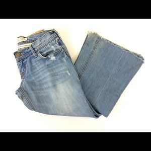 Hollister Bootcut Flare Very Distressed Jeans - 1
